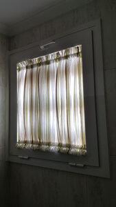 cortina con gusanillo