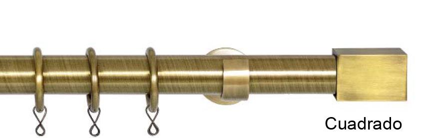 barra para cortinas en bronce