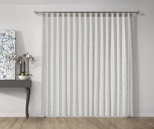 cortina con tablas a mano