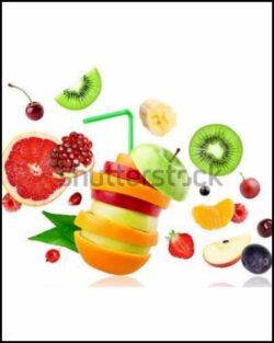 enrollable estampado frutas