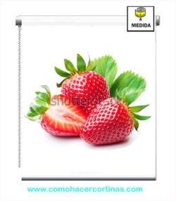 estor de cocina fresas