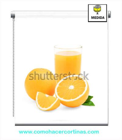 estor para cocina naranja