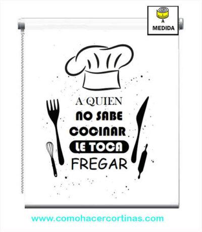 estores para cocina con frases
