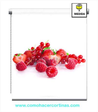 estores de cocina frutos rojos