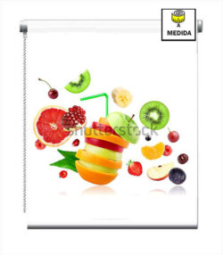 Estores para cocinas frutas multicolor