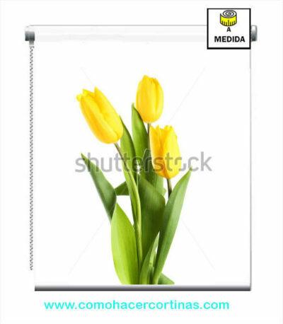 estores estampados florales