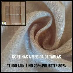 CORTINAS A MEDIDA DE LINO CON TABLAS