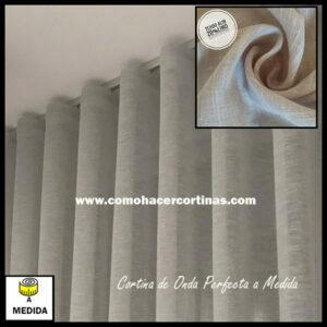 cortinas onda perfecta a medida lisa