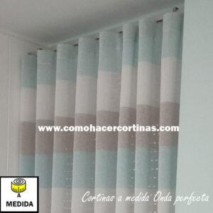 cortina a medida de onda perfecta rayas horizontales