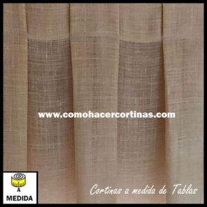 cortina a medida a tablas