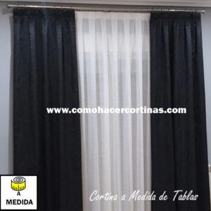 cortina a medida de tablas terciopelo