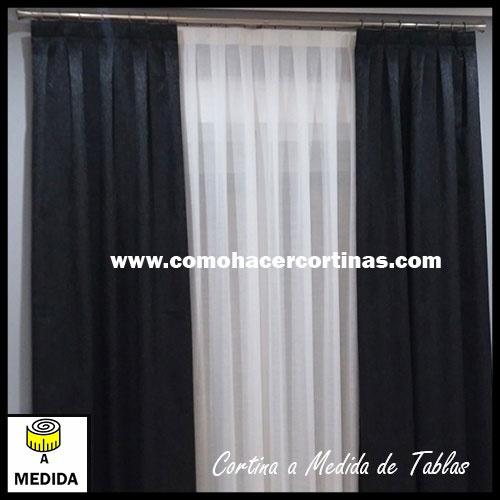 cortinas confeccionadas a medida de tablas