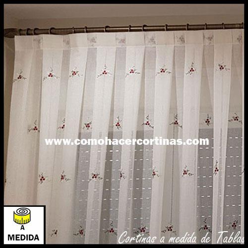 cortina a medida de tablas