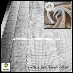 cortina de onda perfecta de lino