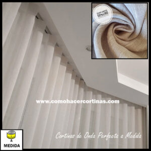 cortina onda perfecta a medida lino