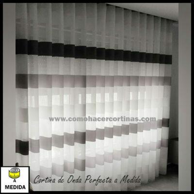 cortina onda perfecta rayas horizontales