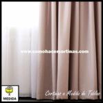 cortina de tablas a medida terciopelo
