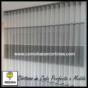 cortinas de onda perfecta con rayas horizontales