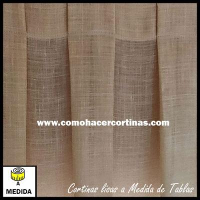 cortina confeccionada a medida tablas