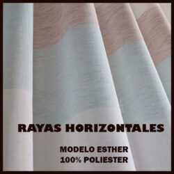 tela `para cortina con rayas horizontales